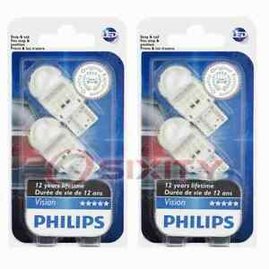 2 pc Philips Front Side Marker Light Bulbs for GMC Canyon 2020 Electrical td