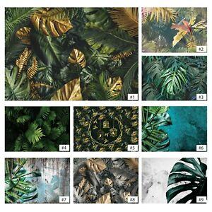 Tapete Blätter grün VLIES FOTOTAPETE Dschungel Golden Natur Monstera Wohnzimmer