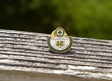 Green Cross For Safety No-Accident 12 Years Award General Telephone Pin Pinback