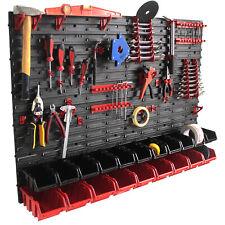 Pannello porta attrezzi garage portautensili organizza minuteria 118x78CM