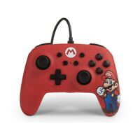 Nintendo Switch Enhanced Wired Controller Super Mario Red-Multi Brand New/Sealed