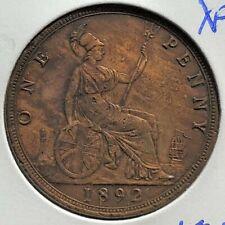 Great Britain 1892 One Penny Bronze XF KM 755