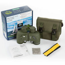 Military 10x50mm HD Navy Binoculars W/Rangefinder Compass Telescope Night Vision