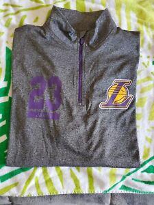NEW UNK LeBron 23 Lakers 1/4 Zip Pullover Gray Lightweight Shirt SZ S