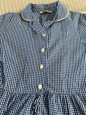 Age 9-10 Years Blue Check Summer Dress Marks & Spencer - School Uniform VGC