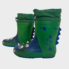 NEXT Boys Wellington Boots Size UK 11 EU 29 Green Blue Monster Wellies