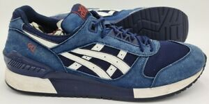 Asics Gel Respector Suede Trainers H722N Navy/Blue/White UK12/US13/EU48