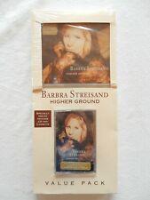 """Barbra Streisand RARE CD & Cassette longbox combo """"Higher Ground"""" sealed FREE SH"""