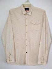 Scotch & Soda Mens Beige Multicolor Threads Long Sleeve Button Up Size XXL
