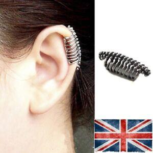 Skull Unisex ear cuff clip Gothic Punk earrings