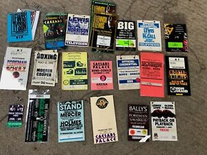 LOT BOXING MEDIA CREDENTIALS: Tyson, Lewis, Holyfield, Foreman, Holmes