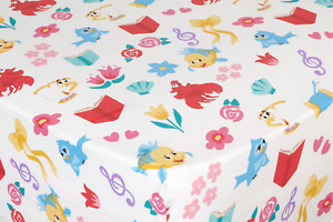 Disney Princess Characters Botanical Assorted Children's Single Fitted Bedsheet