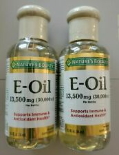 2 Nature's Bounty Vitamin E Oil 2.5oz each 13,500mg (30,000 iu) EXP 8/2019
