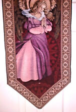 RARE Religious Angel Table Tapestry Holiday Christmass Decor 4-5ft