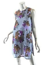 MARNI Multi Color 100% Cupro Gentle A-Line Tunic Dress with Slip  42 US8  NICE