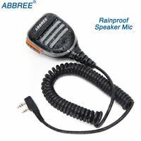 Abbree Wasserdichtes Lautsprecher Mikrofon für Baofeng UV-5R UV-82 Walkie Talkie