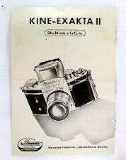 Original Kine-Exakta II Sales Brochure - 4 pages - printed 1950