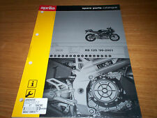 GENUINE APRILIA RS 125 99-01 SPARE PARTS CATALOGUE AP88340X0