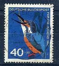 ALLEMAGNE Féd. '63 yv 276 oiseau martin pecheur oblit.