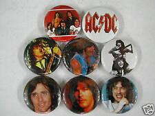 AC/DC 8 NEW PINS Pinbacks Buttons VS