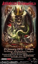 "AVENGED SEVENFOLD ""WORLD TOUR 2015"" SINGAPORE CONCERT POSTER - Heavy Metal Music"