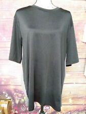 Game Time Mens Short Sleeve T shirt  Black Gray Active Stretch Shirt SIZE XXL
