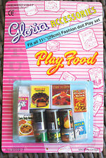 2 GLORIA DOLL HOUSE FURNITURE Play Food(9502-2) Sets FOR BARBIE 5+yrs old
