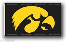 IOWA HAWKEYES NCAA 3X5 FLAGPOLE FLAG BANNER FREE SHIPPING