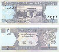 Afghanistan 2 Afghanis 2002 P-65 UNC Uncirculated Banknote