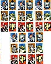 5 Sheets STAR WARS The Clone Wars Scrapbook Stickers!