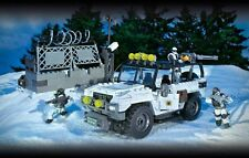 CALL OF DUTY Mega Bloks MILITARY JEEP Ice Attack Lego-type Medium Building Set