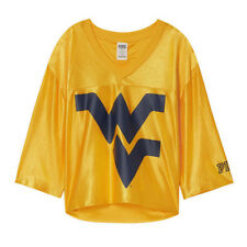 Victoria s Secret Pink West Virginia University Mountaineers Crop Jersey  Size M 9088149a0