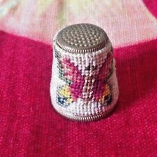 Vintage~Thimble~Butterfly ~Needlepoint~Collectible