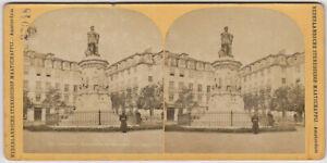 Original vintage 1890s stereoview PORTUGAL, Lisbon, monument