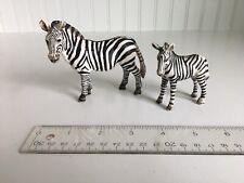 Schleich Zebra Female & Calf Baby Figures Retired 14392 14146