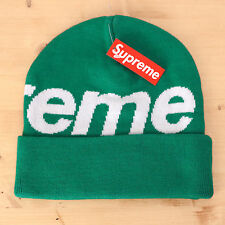 Supreme Big Logo Beanie Green Vert Hat Box Logo Bogo