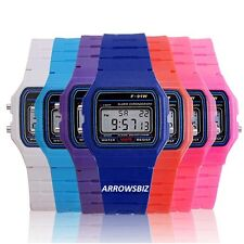 Kids Sports Digital LED Alarm Day Date Stop Watch Back Light Wrist Watch School
