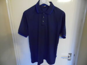 Gents Blue Short Sleeve, Collared, Polo Popper fastening from Trespass size M