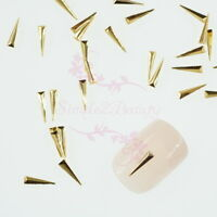 500 3D Long Triangle Punk Studs Metallic Rivets Nail Art Manicure Decor