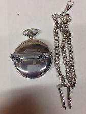 FORD CAPRI ref75 PELTRO effetto automobile su un Lucidato caso D'argento Orologio Tasca