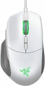 Razer - Basilisk Wired Optical Gaming Mouse with Chroma Lighting - Mercury White