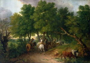 Thomas Gainsborough Road from Market Poster Reproduction Giclee Canvas Print