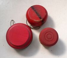 Vintage Set of 3 Different Wooden YOYO's Duncan and 2 other Yo Yo models 1950's