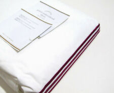 Pottery Barn Red Grand Embroidered Stripes King Cal King Duvet Cover Brand New