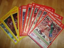 Swindon Town Home Teams S-Z Football Programme Collections/Bulk Lots