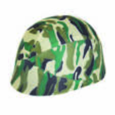 CAMOUFLAGE HELMET FABRIC COVER (ADULT) ARMY FANCY DRESS ACCESSORY