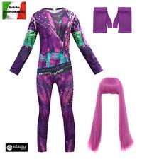 Simile Descendants Vestito Carnevale Mal Bambina Isle Costume Dress 3 DESC06 SD