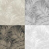 Arthouse Kiss Foil Palm Leaf 4 Colours Wallpaper Roll 10M