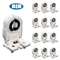 BJB UL Listed Non-Shunted T8 Lamp Holder Sockets with 12 Inch Wires 16 Pack