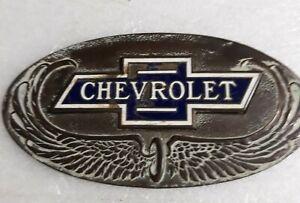 VINTAGE RADIATOR EMBLEM FOR 1928 CHEVROLET CAR. RARE